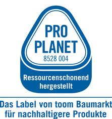 Label-Info: PRO PLANET Laminat ressourcenschonend hergestellt