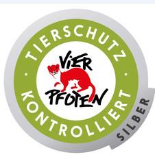 Label-Info: TIERSCHUTZ-KONTROLLIERT Silber