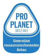 Label-Info: PRO PLANET Schokolade (Fairtrade) Unterstützt ressourcenschonenden Anbau