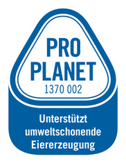 Label-Info: PRO PLANET Backwaren - Frischeiwaffeln Unterstützt umweltschonende Eiererzeugung