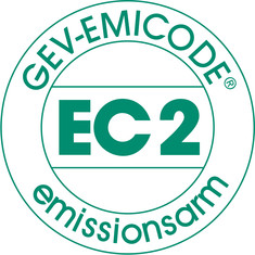 Label-Info: EMICODE EC 2 - emissionsarm