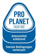 Label-Info: PRO PLANET Bananen Artenvielfalt schützend Soziale Bedingungen verbessert