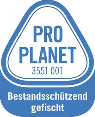 Label-Info: PRO PLANET Hering Bestandsschützend gefischt
