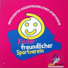 Label-Info: Kinderfreundlicher Sportverein (des Landessportbundes NRW)