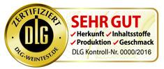 """Label-Info: DLG-Zertifikat für Wein """"SEHR GUT"""""""
