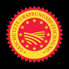 Label-Info: EU-Gütezeichen geschützte Ursprungsbezeichnung (g.U.)