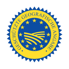 Label-Info: EU-Gütezeichen geschützte geografische Angabe (g.g.A.)