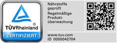 Label-Info: TÜV Rheinland Prüfzeichen Food Safety
