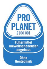 Label-Info: PRO PLANET Milch und Sahne Futtermittel umweltschonend angebaut Ohne Gentechnik