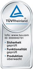 Label-Info: TÜV exklusiv Siegel Prüfsignet für REWE-Produkte