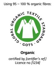 """Label-Info: GOTS (Global Organic Textile Standard) """"kbA/kbT"""""""