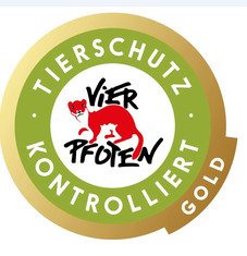 Label-Info: TIERSCHUTZ-KONTROLLIERT Gold