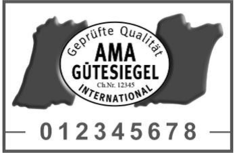 Label-Info: AMA-Gütesiegel international