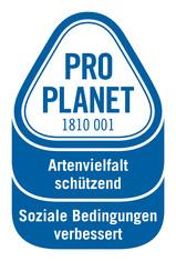 Label-Info: PRO PLANET Blumen (Fairtrade) Artenvielfalt schützend Soziale Bedingungen verbessert