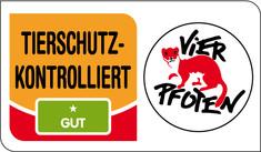 Label-Info: TIERSCHUTZ-KONTROLLIERT gut (ein Stern)