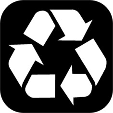 Label-Info: Recycling-Symbol Möbiusband