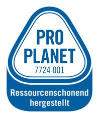 Label-Info: PRO PLANET Flüssigkleber ressourcenschonend hergestellt