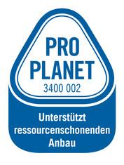 Label-Info: PRO PLANET Brotaufstrich Unterstützt ressourcenschonenden Anbau