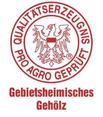 Label-Info: Qualitätserzeugnis - pro agro geprüft - Gebietsheimisches Gehölz