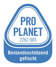 Label-Info: PRO PLANET Wildlachs Bestandsschützend gefischt