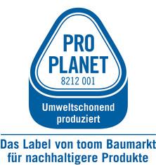 Label-Info: PRO PLANET Farben Umweltschonend produziert