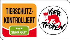Label-Info: TIERSCHUTZ-KONTROLLIERT sehr gut (drei Sterne)
