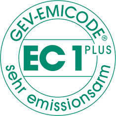 Label-Info: EMICODE EC 1 PLUS - sehr emissionsarm