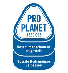 Label-Info: PRO PLANET Weihnachtssterne Ressourcenschonend hergestellt