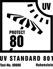 Label-Info: UV Standard 801 Beschattungstextilien