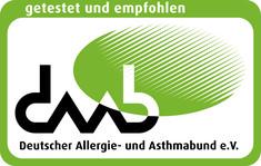 Label-Info: Getestet und empfohlen vom Deutschen Allergie- und Asthmabund e. V.