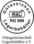 Label-Info: RAL Gütezeichen Lagerbehälter