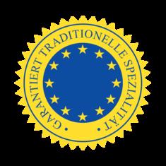 Label-Info: EU-Gütezeichen garantiert traditionelle Spezialität (g.t.S.)