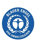 Label-Info: Der Blaue Engel Salzfreie, abstumpfende Streumittel Schützt das Wasser