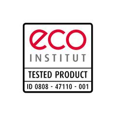 Label-Info: eco-INSTITUT-Label Möbel aus Holz, Kunststoff, Metall
