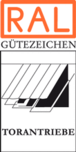 RAL Gütezeichen Torantriebe, vergeben bis 31.12.2015