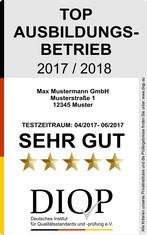 Label-Info: Top Ausbildungsbetrieb (DIQP)