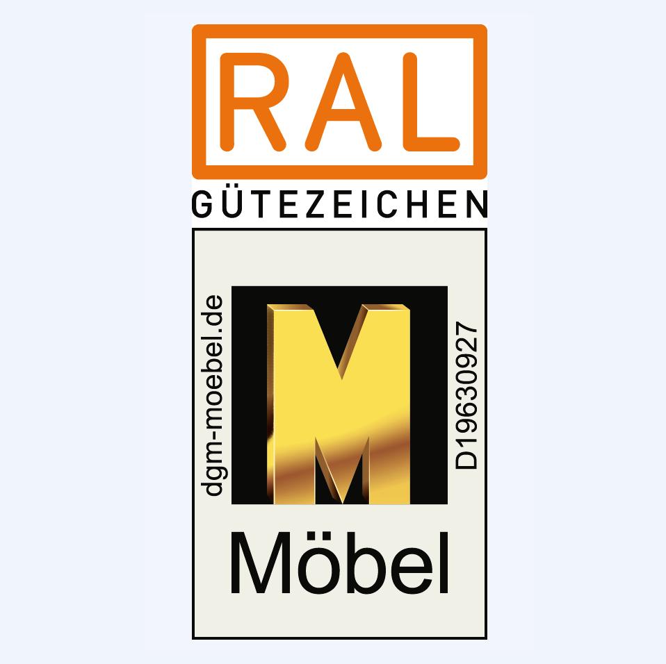 RAL Gütezeichen für Möbel-Goldenes M