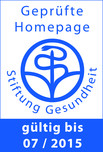 """""""Geprüfte Homepage"""" der Stiftung Gesundheit"""