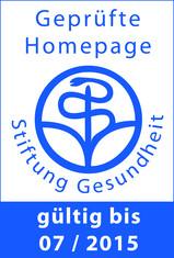 """Label-Info: """"Geprüfte Homepage"""" der Stiftung Gesundheit"""