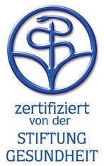 """Label-Info: """"zertifiziert von der Stiftung Gesundheit"""""""