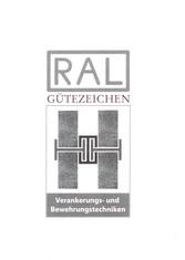 Label-Info: RAL Gütezeichen Verankerungs- und Bewehrungstechniken