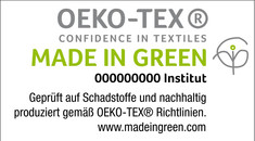 Label-Info: MADE IN GREEN by OEKO-TEX®