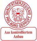 Qualitätserzeugnis - pro agro geprüft - Aus kontrolliertem Anbau