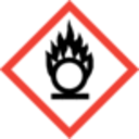 GHS-Kennzeichnung (Gefahrenkennzeichnung)-Flamme über einem Kreis - Oxidierende Flüssigkeiten / Gase / Feststoffe-GHS 03