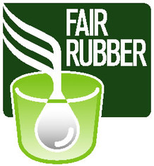 Label-Info: Fair Rubber Logo