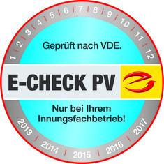 Label-Info: E-Check Photovoltaik