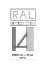 Label-Info: RAL Gütezeichen Fassadenbefestigungstechnik