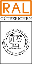 Label-Info: RAL Gütezeichen Rauch- und Wärmeabzugsanlagen Montage und Wartung