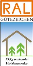 Label-Info: RAL Gütezeichen CO2-senkende Bauwerke in Holz