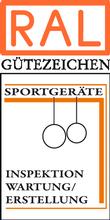 Label-Info: RAL Gütezeichen Sportgeräte Inspektion Wartung Erstellung